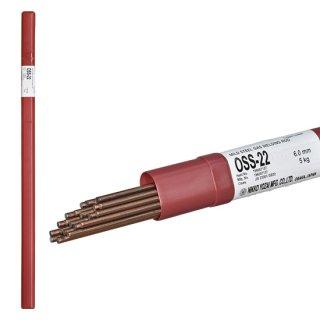 ニッコー溶材 ガス溶接で使用する軟鋼用ガス溶加棒(ガス棒) OSS-22 線径6.0mm バラ売り1kg