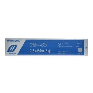 KOBELCO TB-43(TB43) 2.6mm×350mm 1kgバラ売り 神戸製鋼 被覆アーク溶接棒タック・断続・すみ肉溶接などに最適
