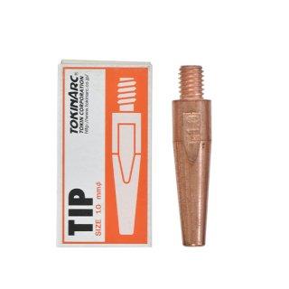 トーキン CO2/MAG/MIG溶接用 Dチップ(ダイヘン用) φ1.0mm.(標準タイプ 10本入) TIP023009