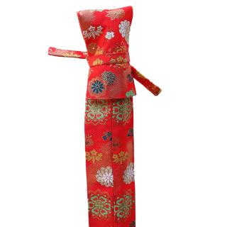 金剛杖袋 花柄 赤