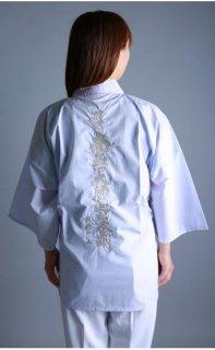 白衣 袖付 背文字(南無大師遍照金剛)銀刺繍入り