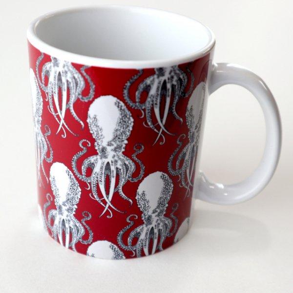 タコ 陶器マグカップ