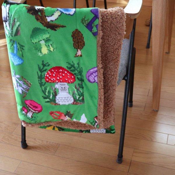 オリジナルテキスタイル Dot mushroom  ブランケット