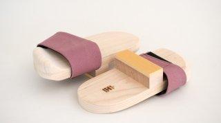 comachi サッと履いてパッと快適な室内用(あずき色)22〜27�対応