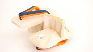 一本歯下駄SCAPPA(22〜27センチ対応)サンセット・オレンジ