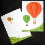 北うさぎ クリアファイル(気球)