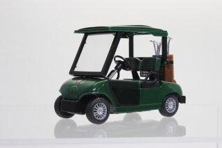 直輸入 プルバック ゴルフカート 全長約12cm グリーン