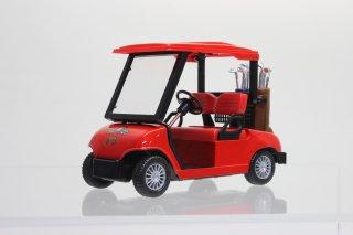 直輸入 プルバック ゴルフカート 全長約12cm レッド