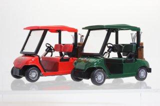 直輸入 プルバック ゴルフカート 全長約12cm レッド&グリーン 2台セット