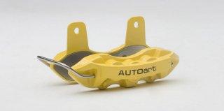 AUTOart ブレーキ・キャリパー ネームカードホルダー (イエロー) オートアートデザイン 40254