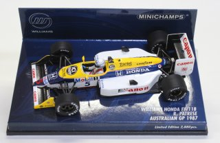 <img class='new_mark_img1' src='//img.shop-pro.jp/img/new/icons33.gif' style='border:none;display:inline;margin:0px;padding:0px;width:auto;' />USED品 MINICHAMPS 1/43 WILLIAMS HONDA FW11B R. PATRESE AUSTRALIAN GP 1987 400870095