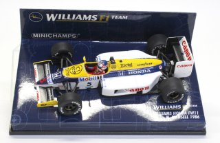 USED品 MINICHAMPS 1/43 WILLIAMS HONDA FW11 N. MANSELL 1986 400860005