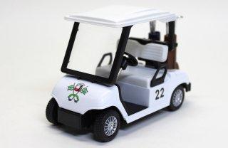 海外直輸入 KINSMART プルバックミニカー ゴルフカート ホワイト