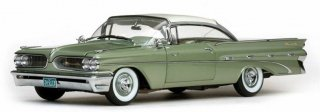サンスター 1/18 Sunstar 1959 Pontiac Bonneville Closed Hard Top Green - Platinum 5173