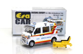 Era Car 1/64  ERA#03 スズキエブリィ 香港救急車 Suzuki Every  H.K. Mini Ambulance Van