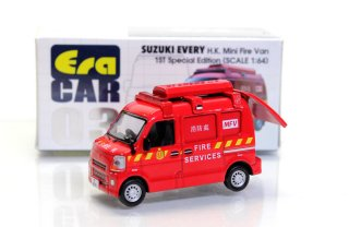 Era Car 1/64  ERA#03 スズキエブリィ 香港消防所轄車(初回限定品) Suzuki Every 1ST Special Edition