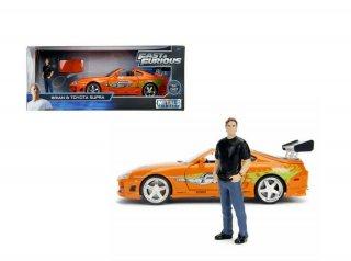 海外直輸入 JADATOYS 1/24 Hollywood Rides  Fast & Furious Toyota Supraスープラ & ブライアン フィギュア付き