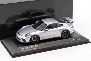 直輸入 MINICHAMPS 1/43 ポルシェ911 Porsche 911 991 GT3 in GT Silver Metallic 413066034