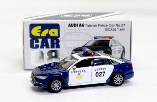 EraCar 1/64  ERA#08 AUDI - A6 台湾警察 Police Car 027 ダイキャスト製 前ドア・ボンネット開閉式
