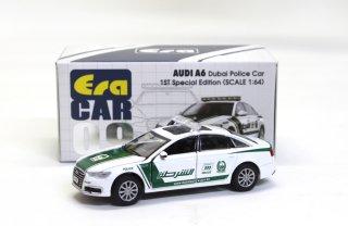 再入荷 EraCar 1/64  ERA#09 AUDI - A6 (初回限定) ドバイ警察Police Car  ダイキャスト製  ダイキャスト製 前ドア・ボンネット開閉式