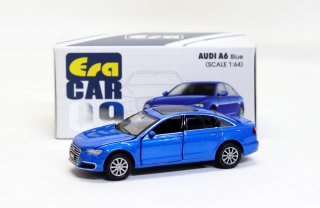 EraCar 1/64 ERA#09 アウディAUDI - A6 (2019) ブルー blue ダイキャスト製 前ドア・ボンネット開閉式