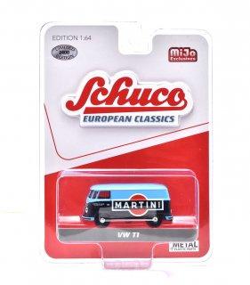 "Schuco 1/64 VW T1 バン ""マルティーニ"" 青/紺 ( シュコー 1/64 452018300 )"