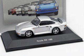 ATLAS EDITIONS 1/43 Porsche 959 Year 1986 Silver