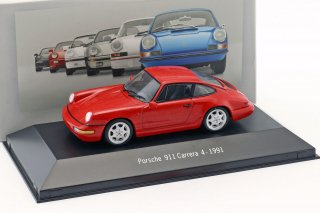 <img class='new_mark_img1' src='//img.shop-pro.jp/img/new/icons13.gif' style='border:none;display:inline;margin:0px;padding:0px;width:auto;' />ATLAS EDITIONS 1/43 Porsche 911 (964) Carrera 4 Year 1991 Red