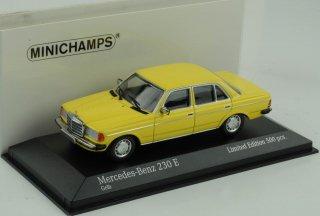 直輸入 ミニチャンプス 1/43 Mercedes-Benz 230 E W123 Yellow 1982