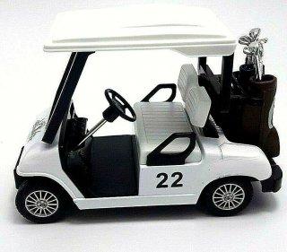 直輸入 プルバック ゴルフカート 全長約12cm ホワイト