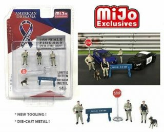 American Diorama 1:64スケール  ポリス Police 6ピースセット  Die Cast Metal AD-38403