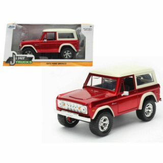 JADATOYS 1/24 1973 Ford Broncoブロンコ Red Diecast Model Just Trucks  98280