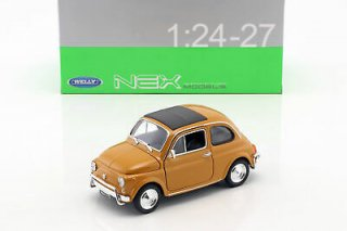 Fiat Nuova 500 Year 1957 White 1:24 welly ブラウン