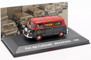 Fiat 600 van Mokarabia year 1958 red / black