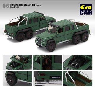 EraCar 06 1/64 メルセデスベンツ G63 AMG 6X6 ダイキャスト製 グリーン