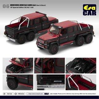 EraCar 06 1/64 メルセデスベンツ G63 AMG 6X6 ダイキャスト製 レッド/ブラック(初回生産限定)