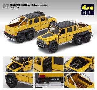 EraCar 07 1/64 メルセデスベンツ G63 AMG 6X6  スポットライトver. ダイキャスト製 イエロー