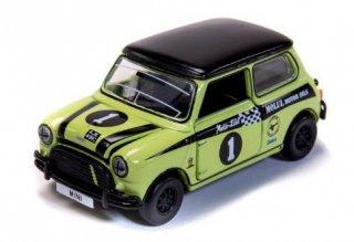 ミニクーパーレーシング #1 黄緑 クラシックレーシング ( 小スケール タイニー ATC64733 )
