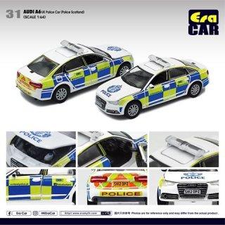 EraCar 1/64 #ERA_31 アウディAudi A6 UKパトカー Police Car (スコットランドポリス)(ボンネット&前ドア開閉)