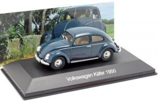 Volkswagen VW Beetle Year 1950 Dark Blue 1:43 Altaya