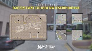 シンガポール特注限定マット Dreamcustoms デスクトップジオラマ Millenia Walk Desktop Diorama 350mm×250mm ※ミニカーは付属してません。