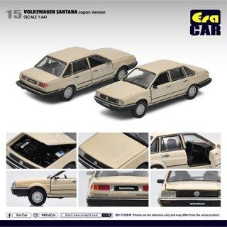 再入荷 EraCar 1/64 #ERA_15 Volkswagen Santana サンタナ- 日本仕様 ベージュ(ボンネット&前ドア開閉)