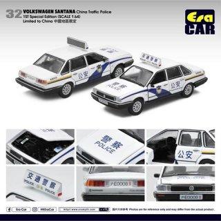 EraCar 1/64 #ERA_32  Volkswagen Santana - 中国警察パトカー(初回限定)(ボンネット&前ドア開閉)