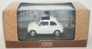 海外直輸入 Altaya Fiat 500 white scale 1:43 Altaya road cars フィアット500 白