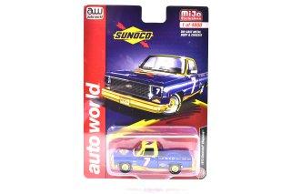 """Auto world 1/64 1973 シェビー シャイアン """"SUNOCO"""" ブルー/イエロー ( 1/64 オートワールド CP7671 )"""
