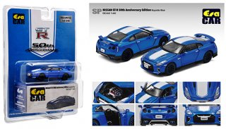 MIJO限定USA EraCar 1/64  Exclusives USA 2020 Nissan GT-R R35 50th Anniversary  Blue 2020