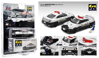 MIJO限定 EraCar 1/64  Exclusives 2020 Nissan GT-R R35  Japan Police栃木県警察パトカーフィギュア付き(USA品)