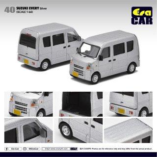 EraCar 1/64 #ERA40 Suzuki Every Silverスズキエブリイ シルバー(リアゲート開閉)