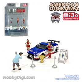 再入荷 American Diorama 1:64 MiJo Exclusives - Auto Show Figures Set - Limited to 4,800 pieces 64フィギュア