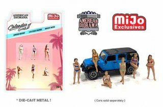 American Diorama 1:64 MiJo Exclusives - Calendar Girls ll Figures -64フィギュア